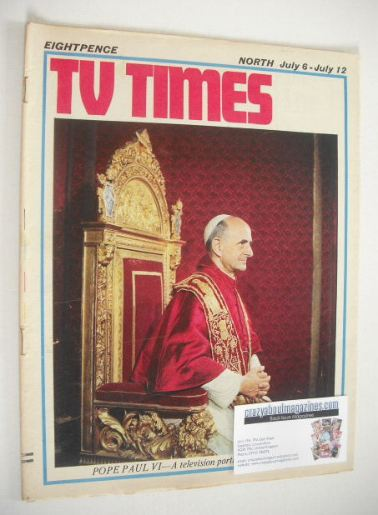 <!--1968-07-06-->TV Times magazine - Pope Paul VI cover (6-12 July 1968)