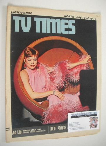 <!--1968-07-13-->TV Times magazine - Juliet Prowse cover (13-19 July 1968)