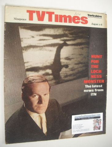 <!--1969-08-02-->TV Times magazine - Reginald Bosanquet cover (2-8 August 1