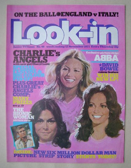 <!--1977-11-12-->Look In magazine - Charlie's Angels cover (12 November 197
