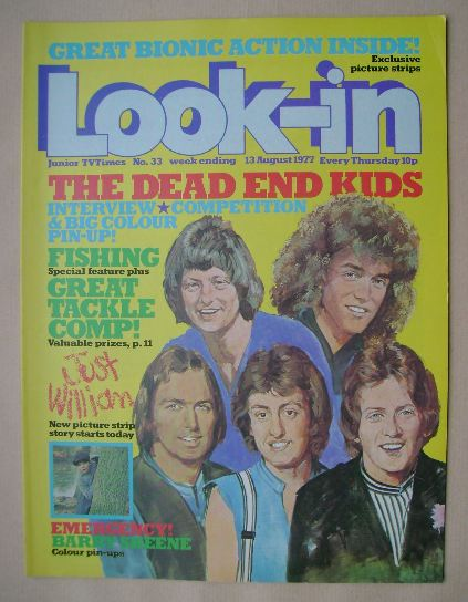 <!--1977-08-13-->Look In magazine - The Dead End Kids cover (13 August 1977