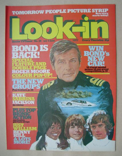 <!--1977-07-09-->Look In magazine - Roger Moore cover (9 July 1977)