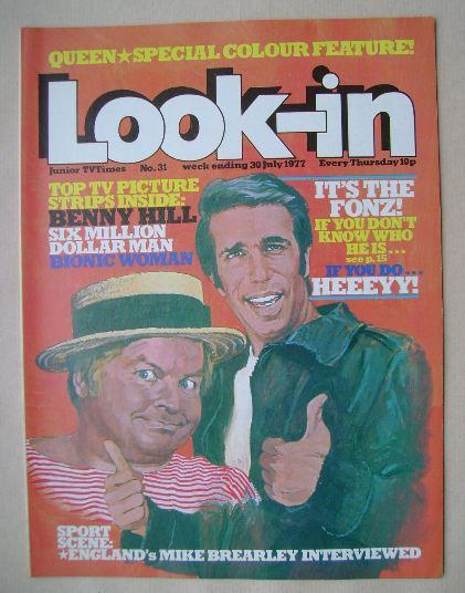 <!--1977-07-30-->Look In magazine - Henry Winkler / Benny Hill cover (30 Ju