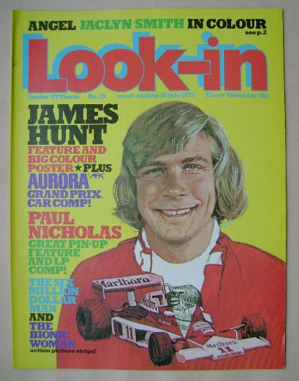 <!--1977-07-16-->Look In magazine - James Hunt cover (16 July 1977)