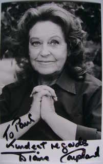 Diana Coupland autograph (hand-signed photograph, dedicated)
