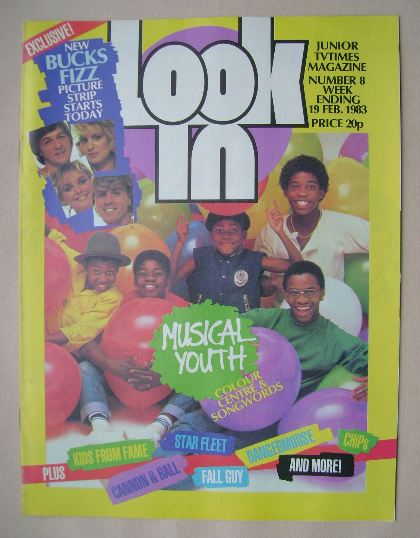 <!--1983-02-19-->Look In magazine - Musical Youth cover (19 February 1983)