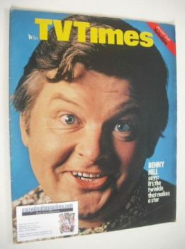 TV Times magazine - Benny Hill cover (23-29 January 1971)