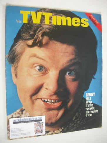 <!--1971-01-23-->TV Times magazine - Benny Hill cover (23-29 January 1971)