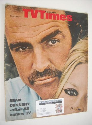 <!--1969-02-01-->TV Times magazine - Sean Connery cover (1-7 February 1969)
