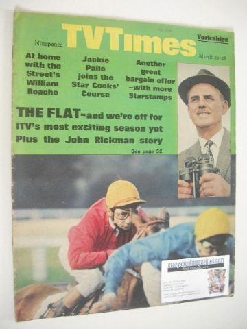 <!--1969-03-22-->TV Times magazine - John Rickman and Lester Piggott cover
