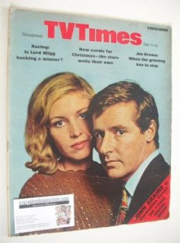 TV Times magazine - William Roache and Anne Reid cover (7-13 December 1968)