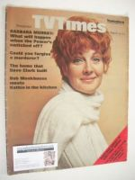 <!--1969-03-15-->TV Times magazine - Barbara Murray cover (15-21 March 1969)