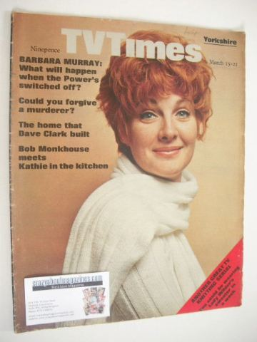 <!--1969-03-15-->TV Times magazine - Barbara Murray cover (15-21 March 1969