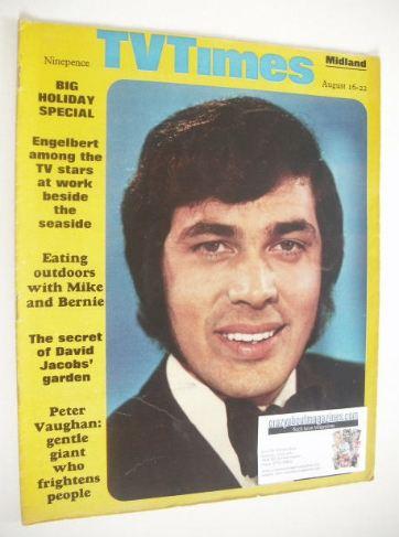 <!--1969-08-16-->TV Times magazine - Engelbert Humperdinck cover (16-22 Aug