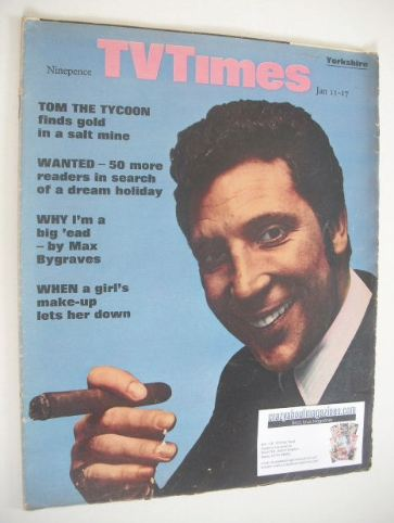 <!--1969-01-11-->TV Times magazine - Tom Jones cover (11-17 January 1969)