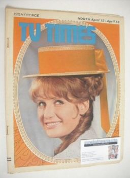 TV Times magazine - Veronica Strong cover (13-19 April 1968)