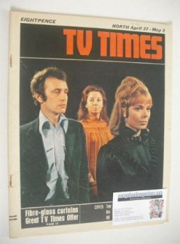 TV Times magazine - Tony Beckley, Frances Cuka and Louise Pajo cover (27 April - 3 May 1968)