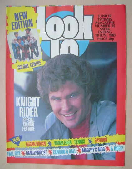 <!--1983-06-18-->Look In magazine - David Hasselhoff cover (18 June 1983)