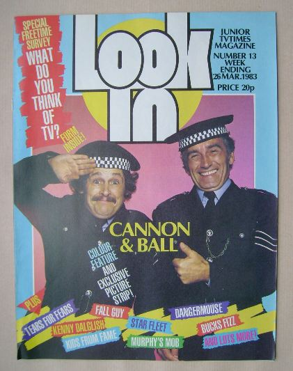<!--1983-03-26-->Look In magazine - Cannon & Ball cover (26 March 1983)
