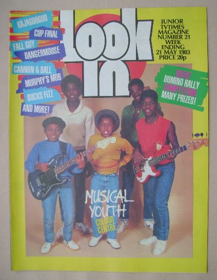 <!--1983-05-21-->Look In magazine - Musical Youth cover (21 May 1983)