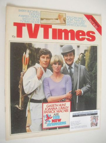 <!--1976-10-16-->TV Times magazine - The New Avengers cover (16-22 October