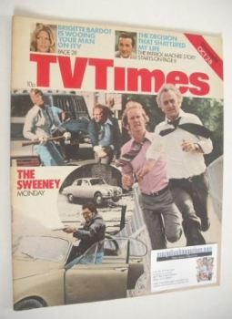 TV Times magazine - The Sweeney cover (2-8 October 1976)
