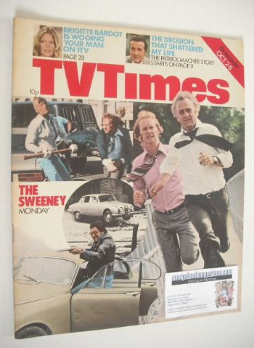 <!--1976-10-02-->TV Times magazine - The Sweeney cover (2-8 October 1976)