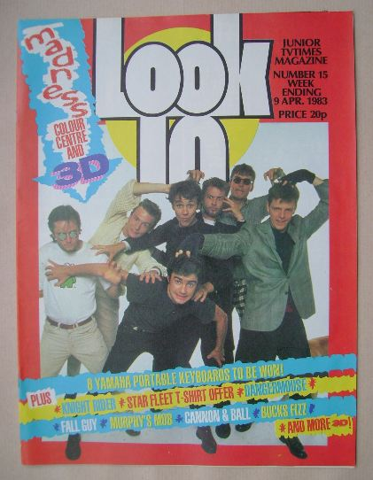 <!--1983-04-09-->Look In magazine - Madness cover (9 April 1983)
