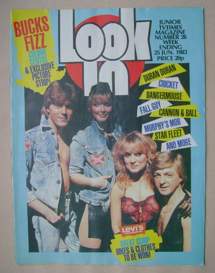 <!--1983-06-25-->Look In magazine - Bucks Fizz cover (25 June 1983)