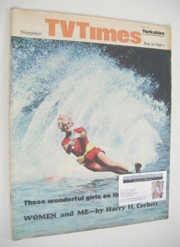 <!--1969-08-30-->TV Times magazine - Skiing Girl cover (30 August - 5 Septe