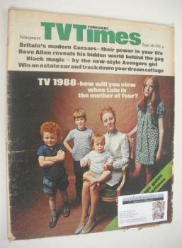 TV Times magazine - Lulu cover (28 September - 4 October 1968)