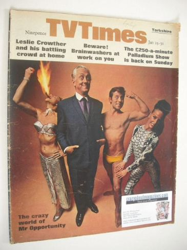 <!--1969-01-25-->TV Times magazine - Hughie Green cover (25-31 January 1969