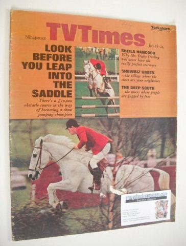 <!--1969-01-18-->TV Times magazine - Harvey Smith cover (18-24 January 1969