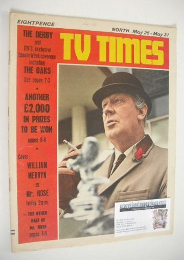 <!--1968-05-25-->TV Times magazine - William Mervyn cover (25-31 May 1968)