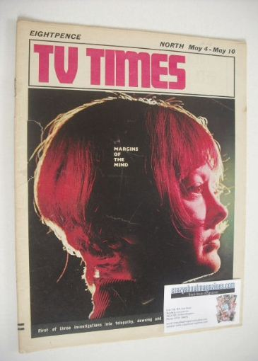 <!--1968-05-04-->TV Times magazine - Margins Of The Mind cover (4-10 May 19