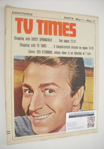 <!--1968-05-11-->TV Times magazine - Des O'Connor cover (11-17 May 1968)