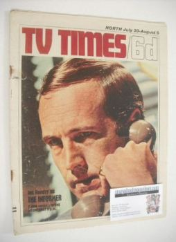 TV Times magazine - Ian Hendry cover (30 July - 5 August 1966)