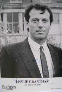 Leslie Grantham autograph (ex EastEnders actor)