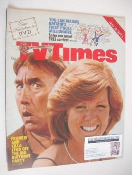 TV Times magazine - Frankie Howerd and Cilla Black cover (28 August - 3 September 1976)