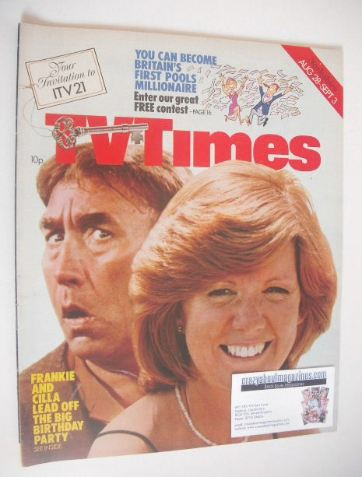 <!--1976-08-28-->TV Times magazine - Frankie Howerd and Cilla Black cover (