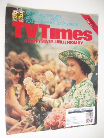 <!--1977-06-04-->TV Times magazine - Queen Elizabeth II cover (4-10 June 19