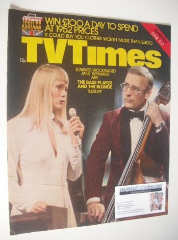 <!--1977-06-11-->TV Times magazine - Jane Wymark and Edward Woodward cover