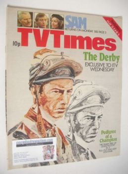 TV Times magazine - Lester Piggott cover (31 May - 6 June 1975)
