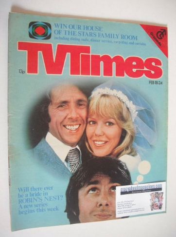 <!--1978-02-18-->TV Times magazine - Tessa Wyatt and Richard O'Sullivan cov