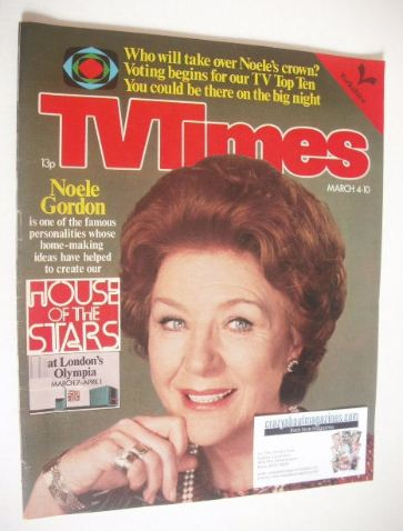 <!--1978-03-04-->TV Times magazine - Noele Gordon cover (4-10 March 1978)