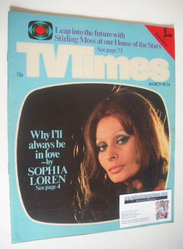 <!--1978-03-18-->TV Times magazine - Sophia Loren cover (18-24 March 1978)