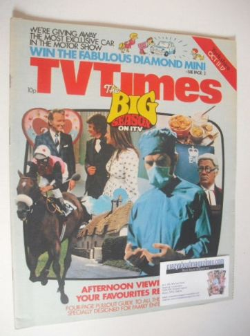 <!--1975-10-11-->TV Times magazine - The Big Season on ITV cover (11-17 Oct