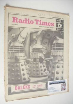 <!--1966-11-05-->Radio Times magazine - Daleks cover (5-11 November 1966)