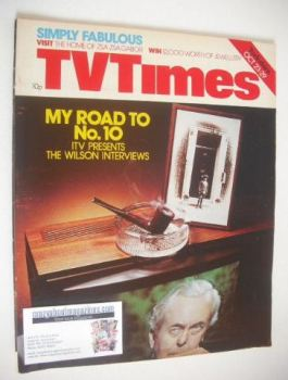TV Times magazine - Harold Wilson cover (23-29 October 1976)