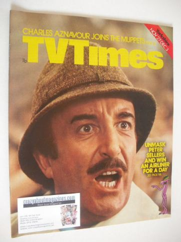 <!--1976-11-27-->TV Times magazine - Peter Sellers cover (27 November - 3 D